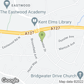 Map of Eastwood Takeaway in Westcliff-On-Sea, essex