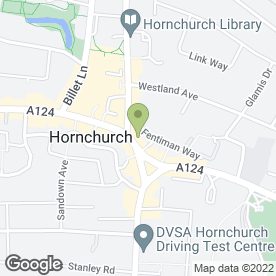 Map of Thomson Bureaux de Change in Hornchurch, greater london
