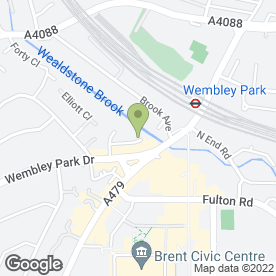 Map of Inhouse Kitchens And Appliances in Wembley, middlesex