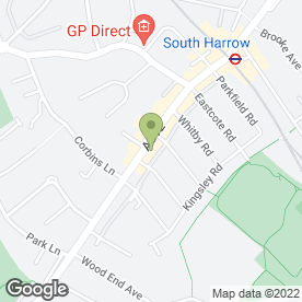 Map of Sam's Pizza & Chicken in Harrow, middlesex