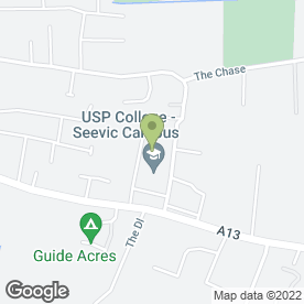 Map of Seevic College in Benfleet, essex