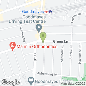 Map of Goodmayes Green Lane P.O in Ilford, greater london