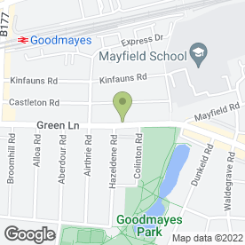 Map of Webbs Garden Centre in Ilford, greater london