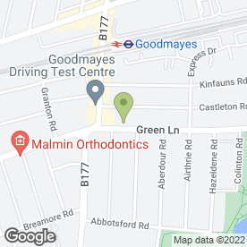 Map of Goddard Veterinary Group in Goodmayes, greater london