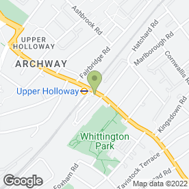 Map of A1 Holloway North London Van Hire in London, london
