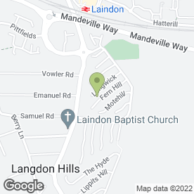 Map of Pamperlicious Beauty & Nails in Langdon Hills, Basildon, essex