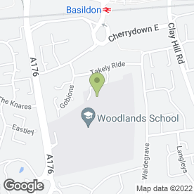 Map of Theatretrain (Basildon) in Basildon, Essex