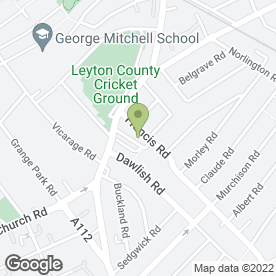 Map of Dawlish Primary School in Leyton, London, london