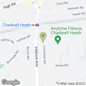 Map of Gary Holmes Fibrous Plasterer in Dagenham, greater london