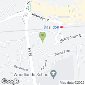 Map of The Welfare Catering in Basildon, essex
