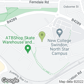 Map of Tae Kwon Do in Swindon, wiltshire