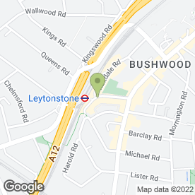 Map of Leytonstone P.O & News in London, london