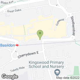 Map of haart in Basildon, essex