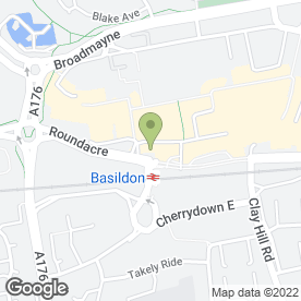 Map of The Beehive in Basildon, essex