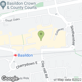 Map of Montgomery in Basildon, essex
