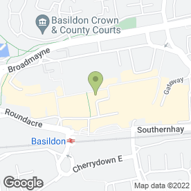 Map of D.J Willis in Basildon, essex