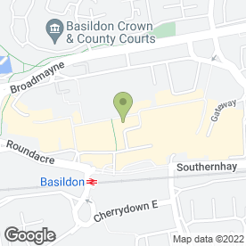 Map of Anthony King Solicitors in Basildon, essex
