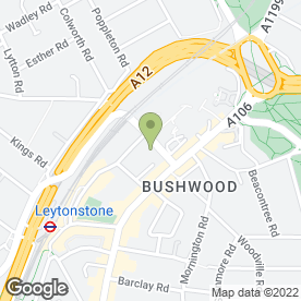 Map of Tesco Superstore in Leytonstone, London, london