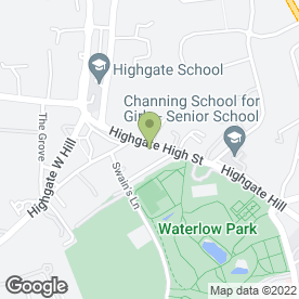 Map of Highgate Dental Practice in London, london