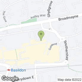 Map of Home Curtains & Bedding in Basildon, essex