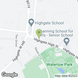 Map of Kinleigh Folkard & Hayward Estate Agents in London, london