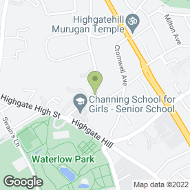 Map of HARINGTON SCHEME in Highgate, London, london
