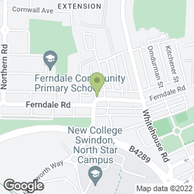 Map of FERNDALE AERIAL SERVICES in Swindon, wiltshire