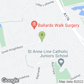 Map of Great Knightleys Dental Surgery in Basildon, essex