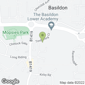 Map of Basildon & Pitsea Cricket Club in Basildon, essex