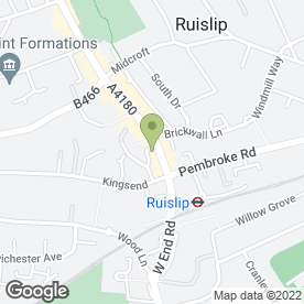 Map of Advance Property Preservation Ltd in Wealdstone, Ruislip, middlesex