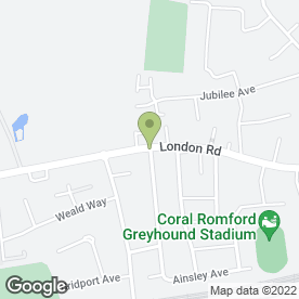 Map of National Residential & Commercial Ltd in Romford, greater london
