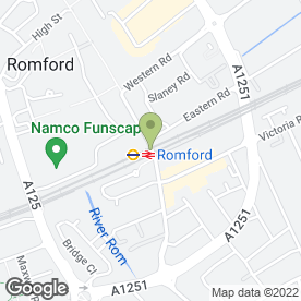 Map of The Goose in Romford, greater london