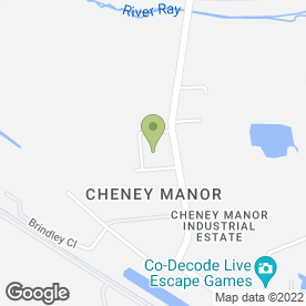 Map of Manor Catering Services in Cheney Manor Industrial Estate, Swindon, wiltshire