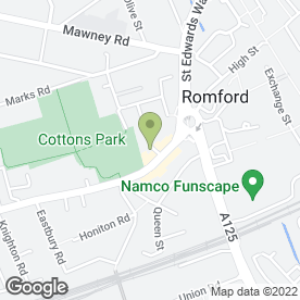 Map of Johns Of Romford Ltd in Romford, greater london