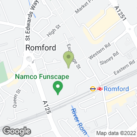 Map of Explore Learning in Romford, greater london