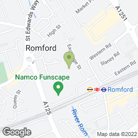 Map of Toby Carvery in ROMFORD, greater london