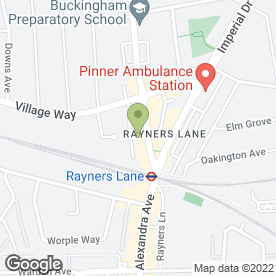 Map of Goldens Solicitors T/A in Pinner, middlesex