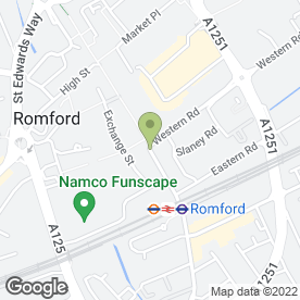Map of The Custom House in Romford, greater london