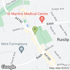 Map of Tan & Beauty Salon (Ruislip) in Ruislip, middlesex