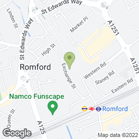 Map of Superdrug Stores plc in Romford, greater london