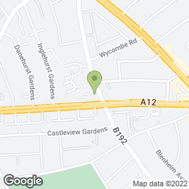 Map of Harvester in Ilford, greater london