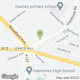 Map of Uppercut in Gants Hill, greater london