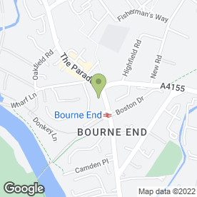 Map of Bourne End Auction Rooms Ltd in Bourne End, buckinghamshire