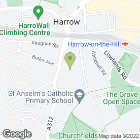 Map of Goodwins Family Law Solicitors in Harrow, middlesex