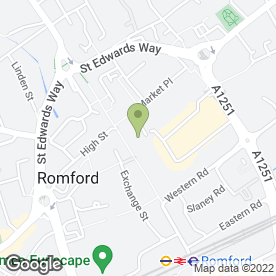 Map of Greggs in Romford, greater london