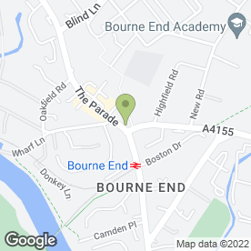 Map of Lloyds TSB Bank plc in Bourne End, buckinghamshire