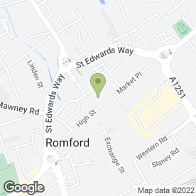 Map of Lloyds TSB Bank plc in Romford, greater london