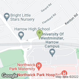 Map of Kenton Aerials & Satellite Services in Harrow, middlesex