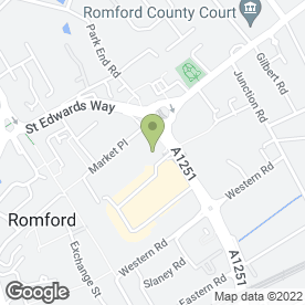 Map of Naturally Unique in Romford, greater london