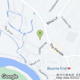 Map of Secure Homes Locksmith in Bourne End, buckinghamshire